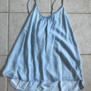 GAP baby blue chambray tank